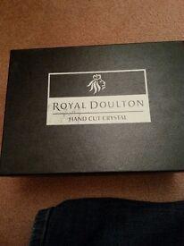 2 brand new Royal Doulton brandy glasses
