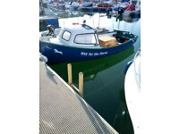 Fishing boat with diesel inboard engine