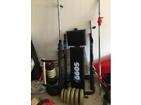 York 6605 weights bench and equipment