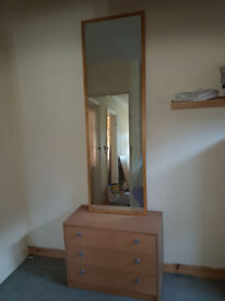 Tall Mirror wooden frame CLEARANCE