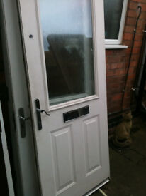 Exterior Composite door with frosted double glazed glass