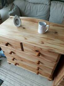 Refurbished pine chest of drawers