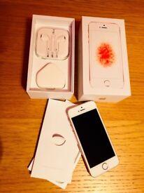 Like new Iphone SE Rose Gold 64gb unlocked
