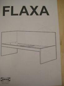 Ikea Flaxa white single bed frame