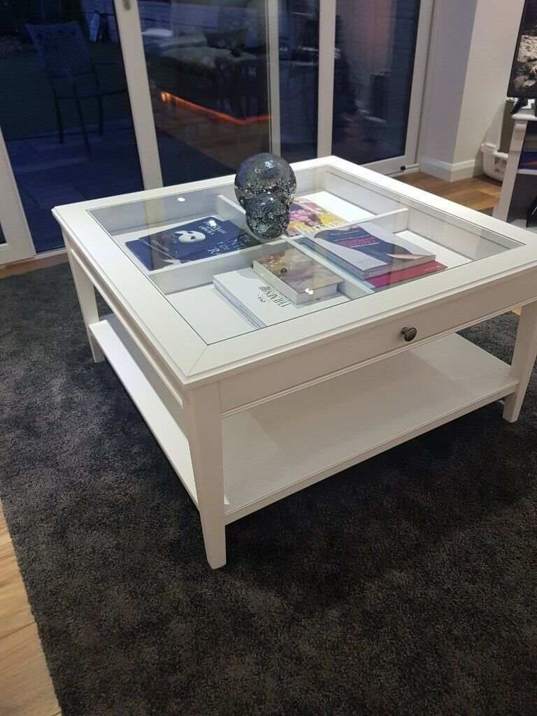Glazen Side Table Ikea.Ikea Coffee Table Glas Top With Display Drawers In Coventry West Midlands Gumtree