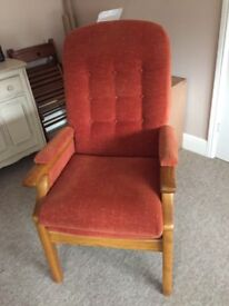 2 Hardwood Chairs. Very comfortable. Open to offers