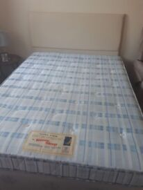 Used Double Bed For Sale with Head Board and Base