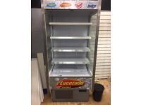 Lucozade drinks display fridge