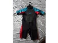 Yello wetsuit for boy - medium short ( up to 130cm)