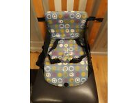 Travel Booster Seat, perfect for eating out or at friends.