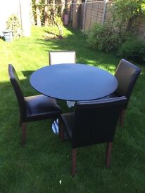 Dining table & four chairs for sale only £ 40