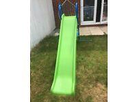 7ft green garden slide