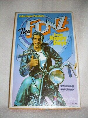 THE FONZ FROM HAPPY DAYS COLORFORMS 1976 NO MISSING PIECES INCLUDING BOOKLET!