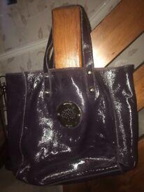 Mulberry patent purple handbag