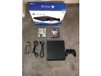 PS4 (Sony PlayStation 4) Slim - 500gb with GTA V and FIFA