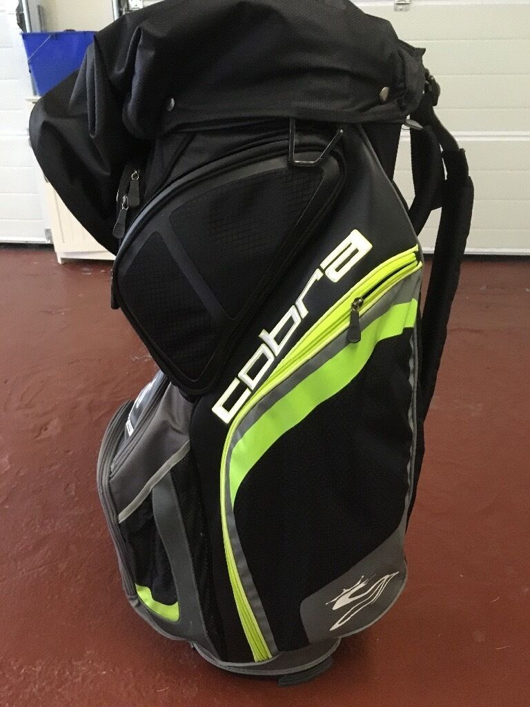 Cobra golf cart bag greygreen40in Dunfermline, FifeGumtree - Cobra golf cart bag good condition, all zips and pockets work, rain cover attached. Buyer to uplift