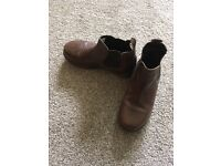 Next Boys Brown Leather Boots size 13