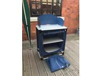 Camping kitchen stand and shelf cupboard