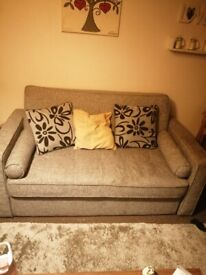 Lovely swivel chairl and 2 Seater sofa bed