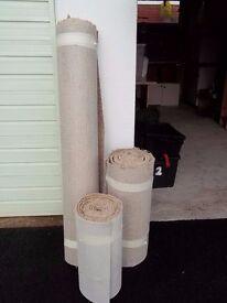 Carpet Remnants x 3 rolls