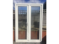 UPVC DOUBLE GLAZED FRENCH DOOR 142.5cm WIDE 206cm HIGH 2 KEYS Can deliver