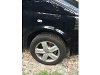 VW 2012 standard T5 Alloy Wheels. Great wheels and tires