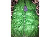 new with tags ralph lauren green body warmer medium