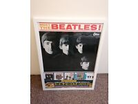 The Beatle Limited Poster - Japan Albums, White Wooden Picture Frame