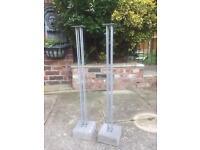 Concrete base speaker stands