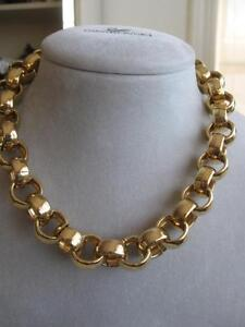 FLASHY 18 in.GOLDTONE ROUND-LINK CHAIN NECKLACE