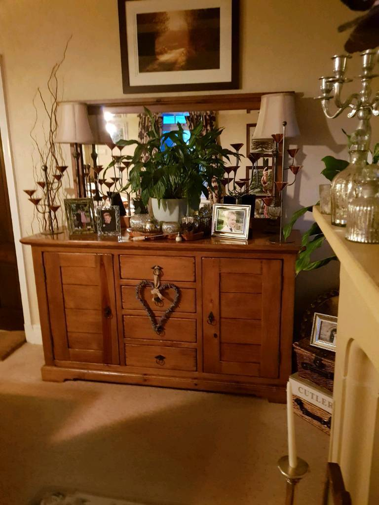 Sideboard/dresser dining table and chairs