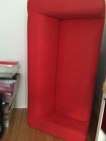 Ikea red sofa