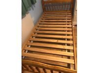 Solid pine bed delivery available