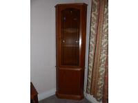 Corner Unit for living room Teak Effect wood