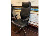 Black Office Height Adjustable Chair