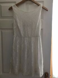 White lace dress size 10