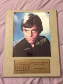 Star Wars Mark Hamill autograph