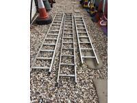 Aluminium ladders x3