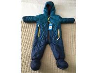 Ted baker blue coat snowsuit onesie coverall 6-12m