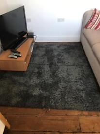 Wilko Wilkinson's teddy bear grey shaggy Long high pile rug carpet 150 x 80