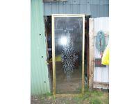 FREE shower door gold effect size including frame 27 ins