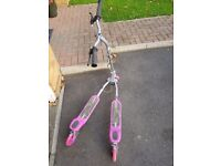 Pink flicker scooter