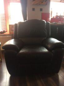 Black Reclining Armchair