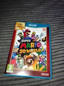 WII U SUPER MARIO 3D WORLD. IMMACULATE CONDITION