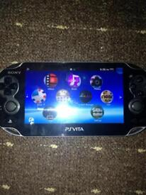 SONY PLAYSTATION VITA WITH CASE AND CHARGER