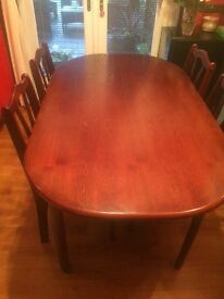 Dining room table and x 6 chairs