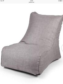 Brand New Dunelm grey Linoso bean chair