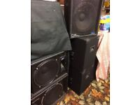 Disco speakers 3 pairs with leads all work