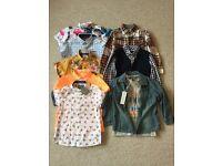 Bundle of boys shirts age 2-3 mainly Next