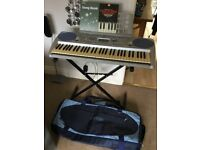 Yamaha Keyboard with Stand, Books & Carry / Storage Bag